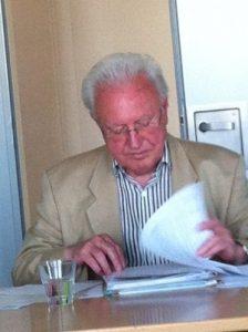 Ehrenpräsident des LAF Helmt Palla