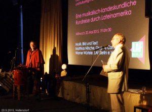 Musikalisch-landeskundliche Rundreise mitMatthias Nitsche, Cantaré 20.5.2015 Hellersdorf